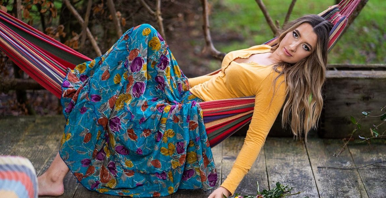 Sari Silk Tier Skirt